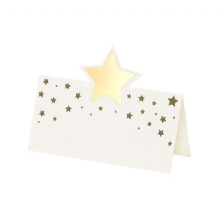 Gold Star Place Cards - pack of 12